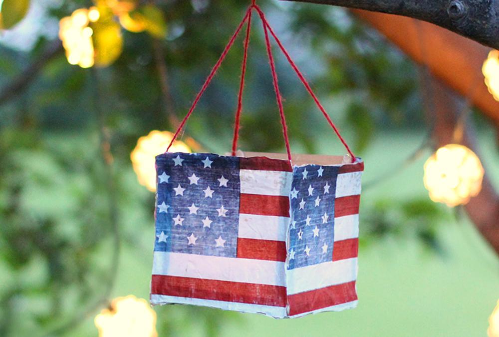 American Flag luminaries