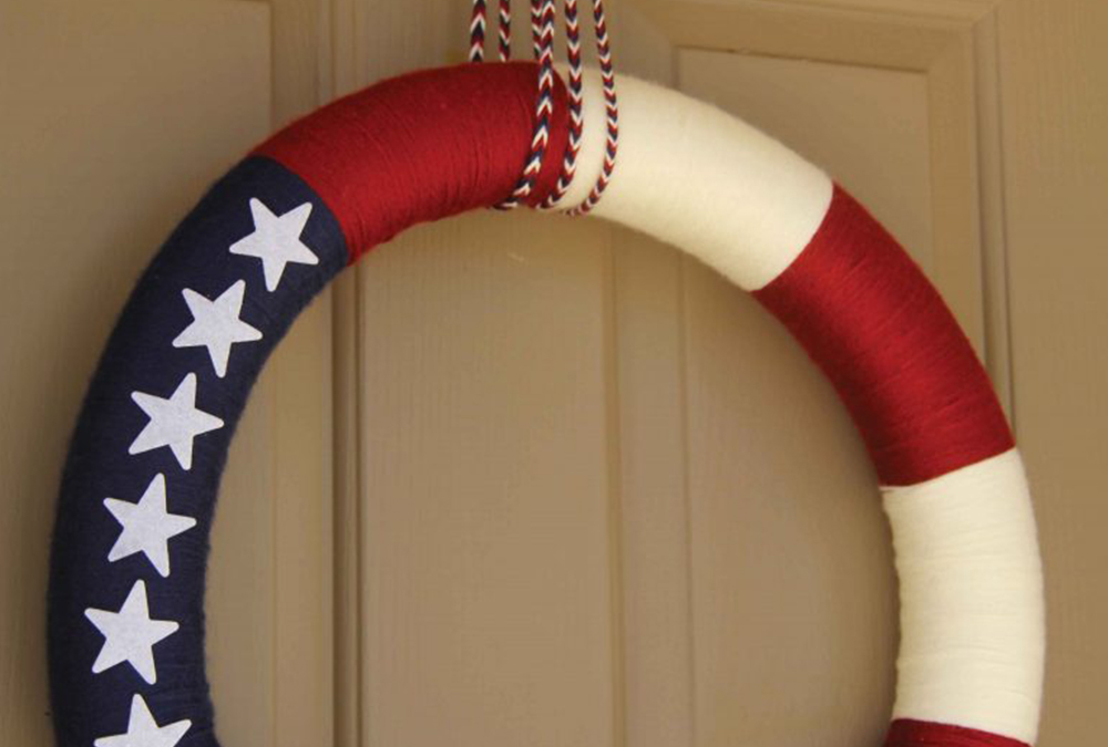 American Flag patriotic wreath