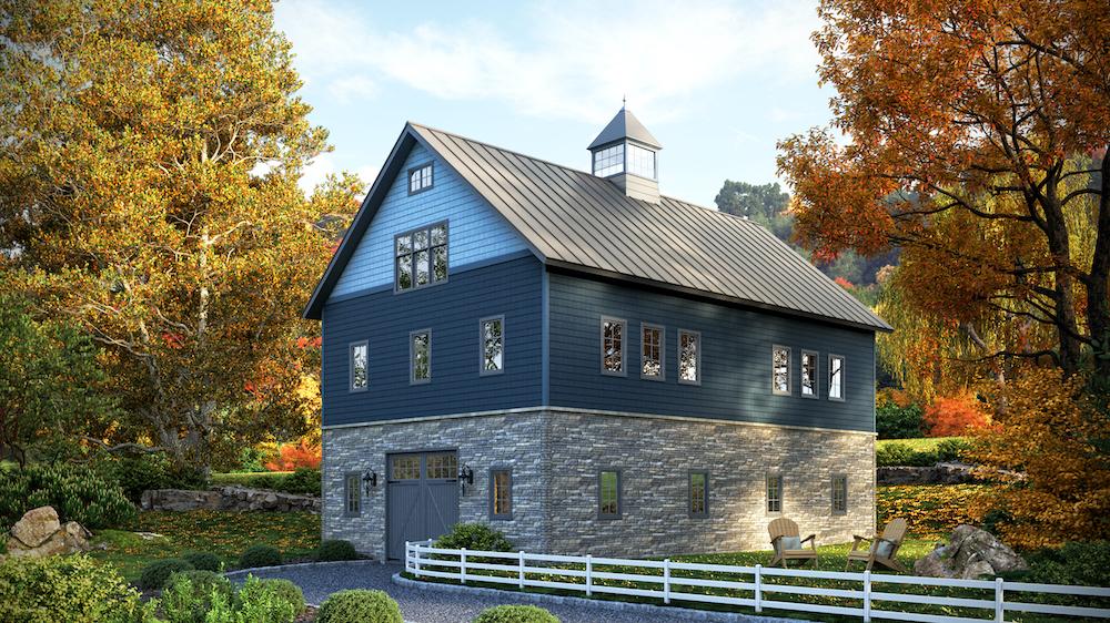 farm house using composite stone