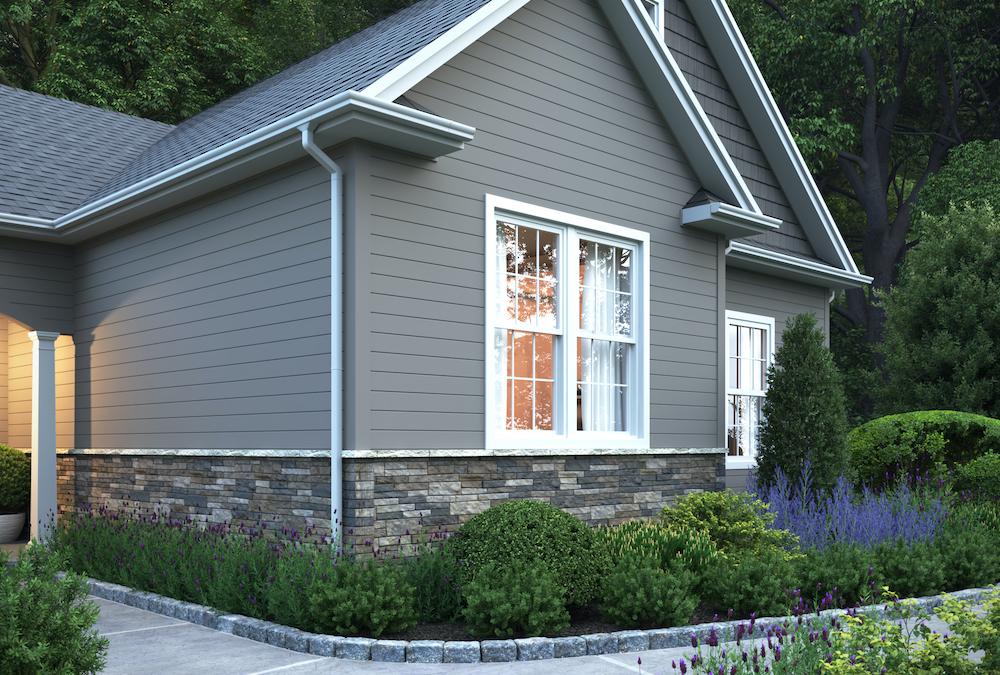 home using composite stone to hide grade