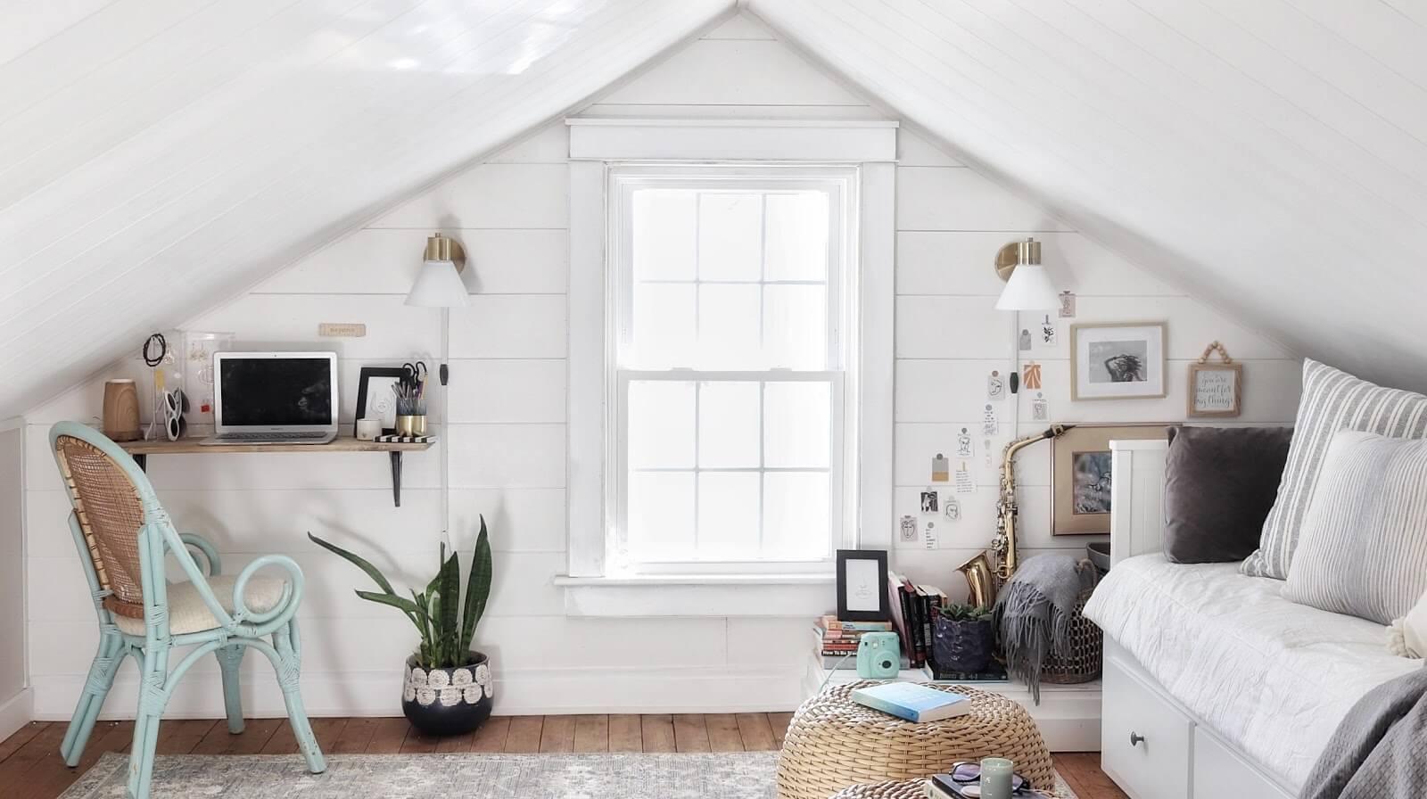 White attic room