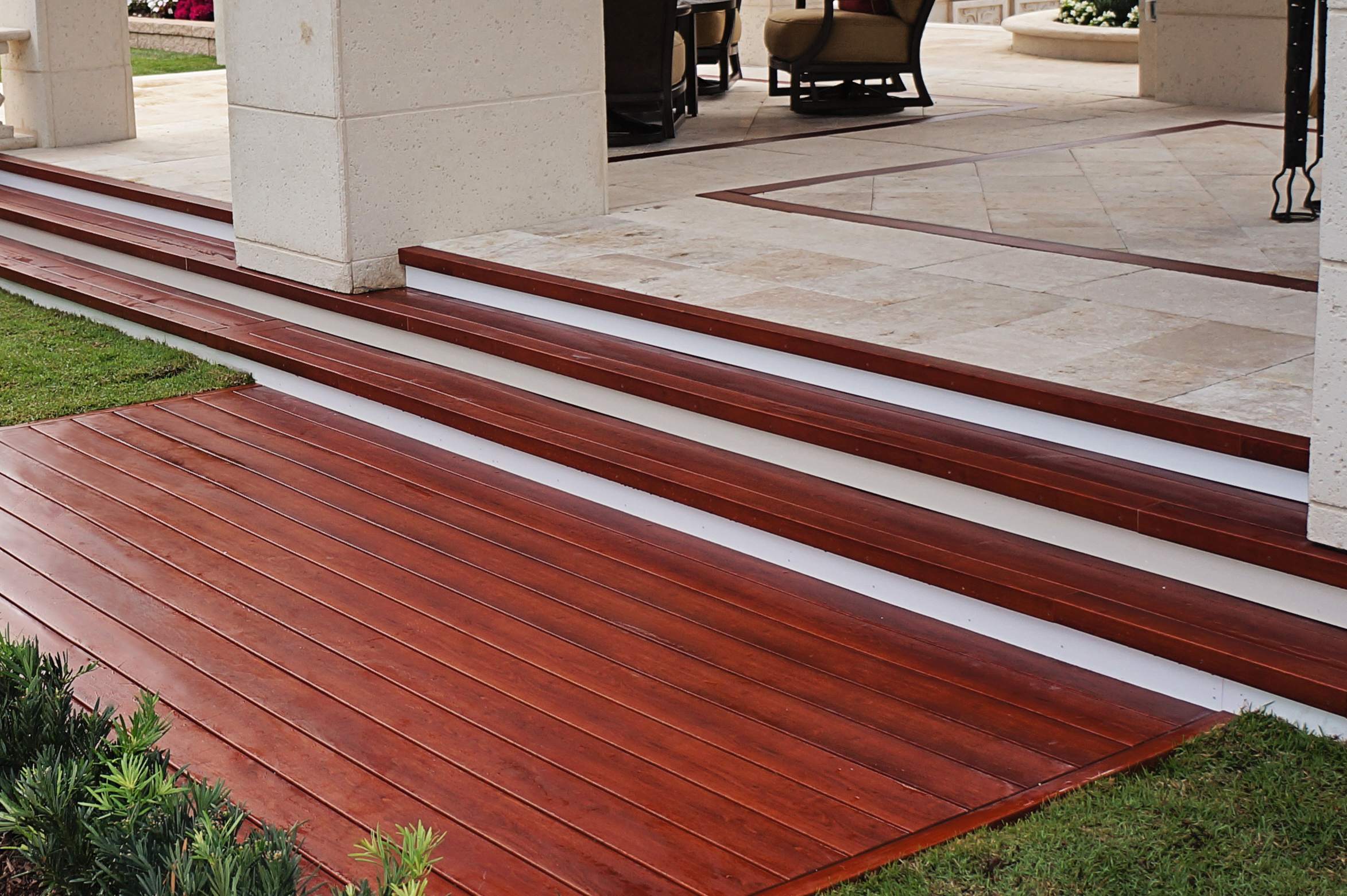 Front decking stairs