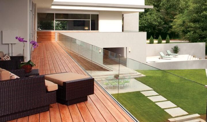 Deck with glass