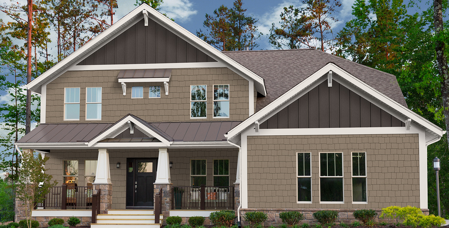 Exterior trim options for craftsman style homes royal - Average cost to paint exterior house trim ...