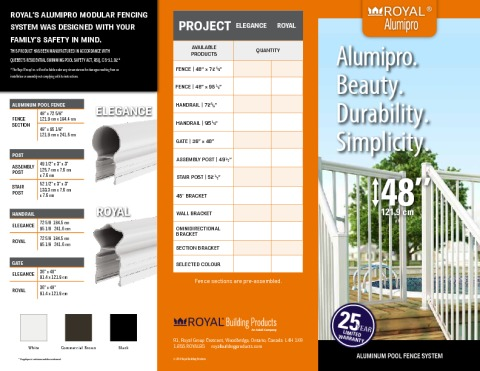 Royal® AlumiPro Pool Fence Brochure | Royal Building Products