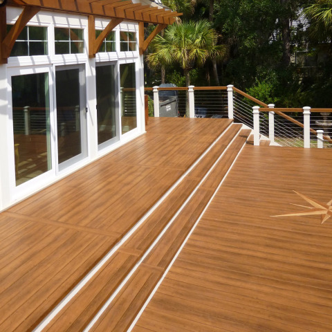 Zuri 174 Deck In Walnut And Chestnut Royal Building Products